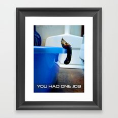 Uncooperative Cat Framed Art Print
