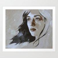allison argent Art Prints featuring Teen Wolf: Allison Argent by Llama Escapes