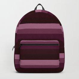 Burgundy stripes Backpack