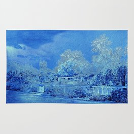 Wedgewood Blue English Garden Rug