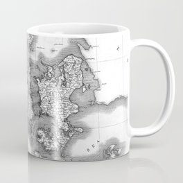 Vintage Map of Denmark (1801) BW Coffee Mug