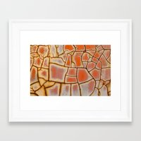 cracked Framed Art Prints featuring Cracked by Kathy Dewar