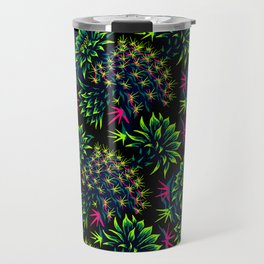 Cactus Floral - Bright Green/Pink Travel Mug