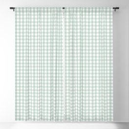 Gingham in Sage Blackout Curtain