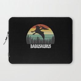 BABUSAURUS BABU SAURUS BABU DINOSAUR Laptop Sleeve