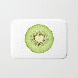 Kiwi illustration, green fruit Bath Mat