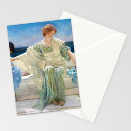 12,000pixel-500dpi - Lawrence Alma-Tadema - Ask Me No More - Digital Remastered Edition Stationery Cards