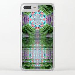 Emerald Sanctuary Clear iPhone Case