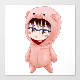 Piggy Yuri Canvas Print