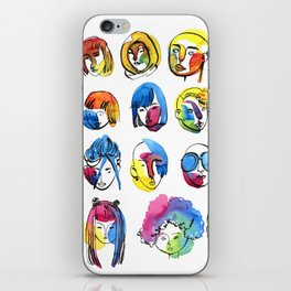 3-color-girls iPhone Skin