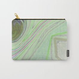 Minty Green and Pearl Diamond Abstract Carry-All Pouch