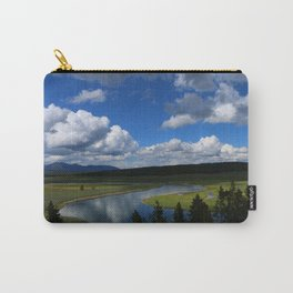 Meadow With Yellowstone River Carry-All Pouch