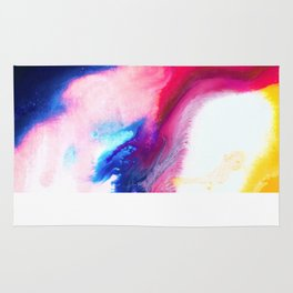 Happiness Talks Abstract Watercolor Painting Rug