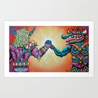 Colabo with Skinner Art Print