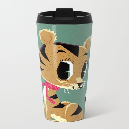little tiger cub Metal Travel Mug