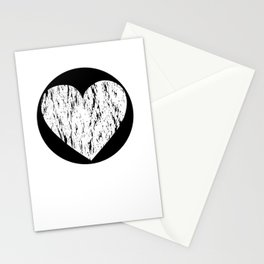 ghost paint heart Stationery Cards