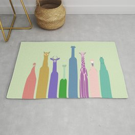 Long Neck Animals Rug