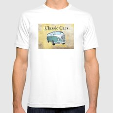 Classic Cars 2 White Mens Fitted Tee MEDIUM