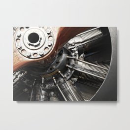 Airplane motor Metal Print