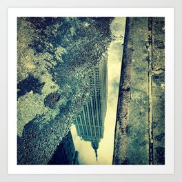 Empire State Building reflection Art Print