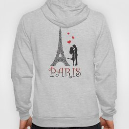 Couple and Eiffel Tower. Hoody