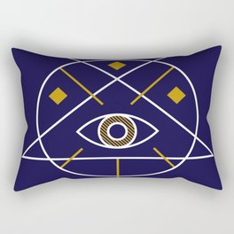 Sacred Geometry All Knowing Eye Cool Abstract Design Rectangular Pillow