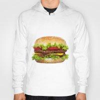 hamburger Hoodies featuring Triangular HAMBURGER by JOlorful
