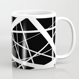 Entrapment - Black and white Abstract Coffee Mug