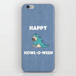Happy Howl-O-Ween Dog Costume iPhone Skin