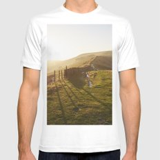 Rushup Edge at sunset. Derbyshire, UK. Mens Fitted Tee White MEDIUM