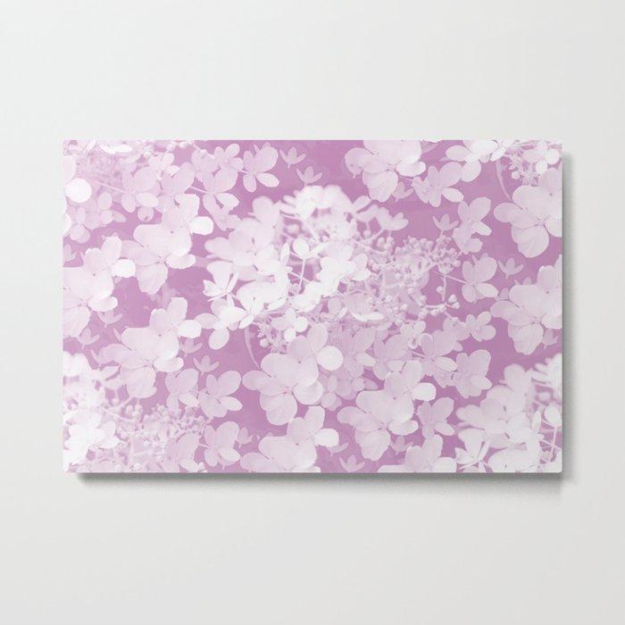 Pink Hydrangea Pastel Color #decor #society6 Metal Print
