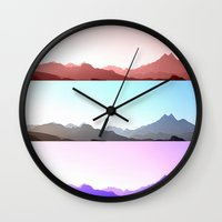 skyline Wall Clocks featuring Skyline by Augustina Trejo