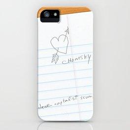 I've Learned; [Dear Capitalist Scum] iPhone Case
