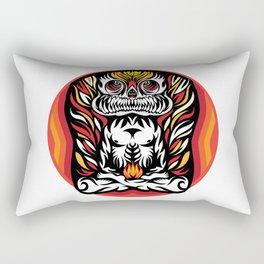Illustration Demon in the lotus position Rectangular Pillow