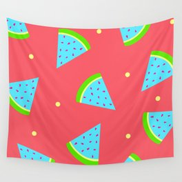 Watermelon in Neon | Watermelon Seed | Watermelon Home Decor | pulps of wood Wall Tapestry