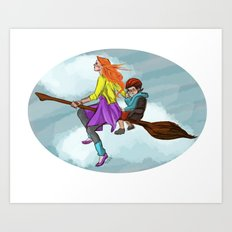 Ginny in flight Art Print