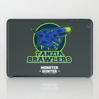 monster hunter iPad Cases featuring Monster Hunter All Stars - The Tanzia Brawlers by Bleached ink
