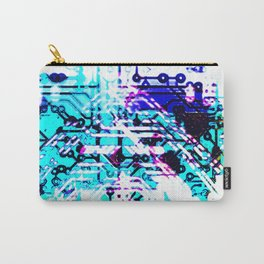 circuit board blue Carry-All Pouch