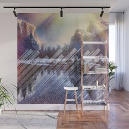 Winter Sun Rays Abstract Nature Wall Mural