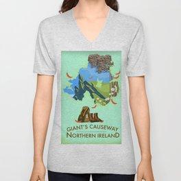 Giant's Causeway, northern ireland Unisex V-Neck