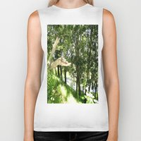 forrest Biker Tanks featuring Forrest Feeling by I AmErika