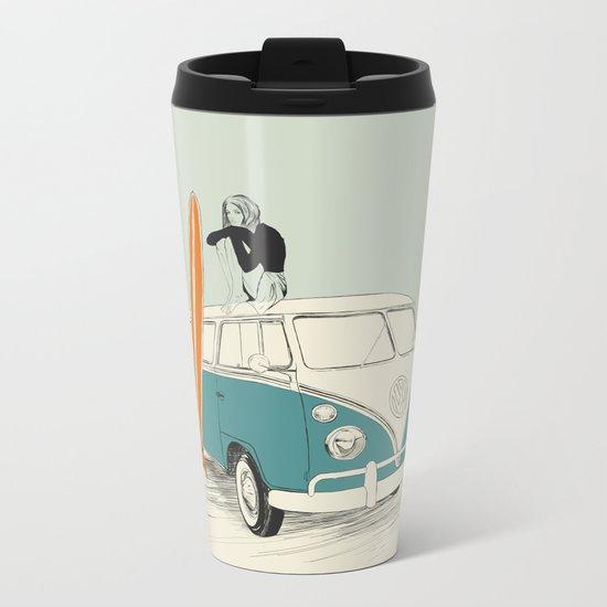 Wild Surfer Metal Travel Mug