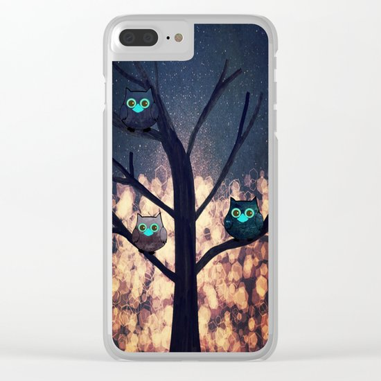 owl-450 Clear iPhone Case