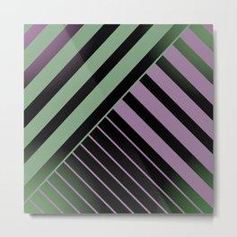 Diagonal Green and Violet Metal Print
