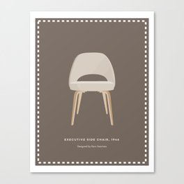Mid-Century Executive Side Chair Canvas Print