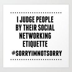 Social Networking Etiquette Art Print
