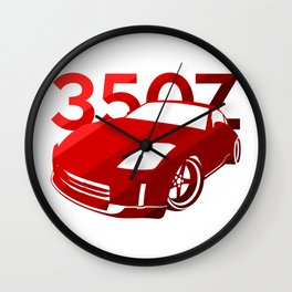 Nissan 350Z - classic red - Wall Clock
