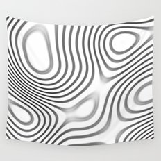 Organic Abstract 01 WHITE Wall Tapestry