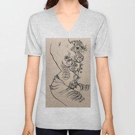 Floral Shroom Torso Unisex V-Neck