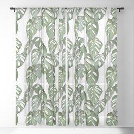 Monstera Obliqua Sheer Curtain